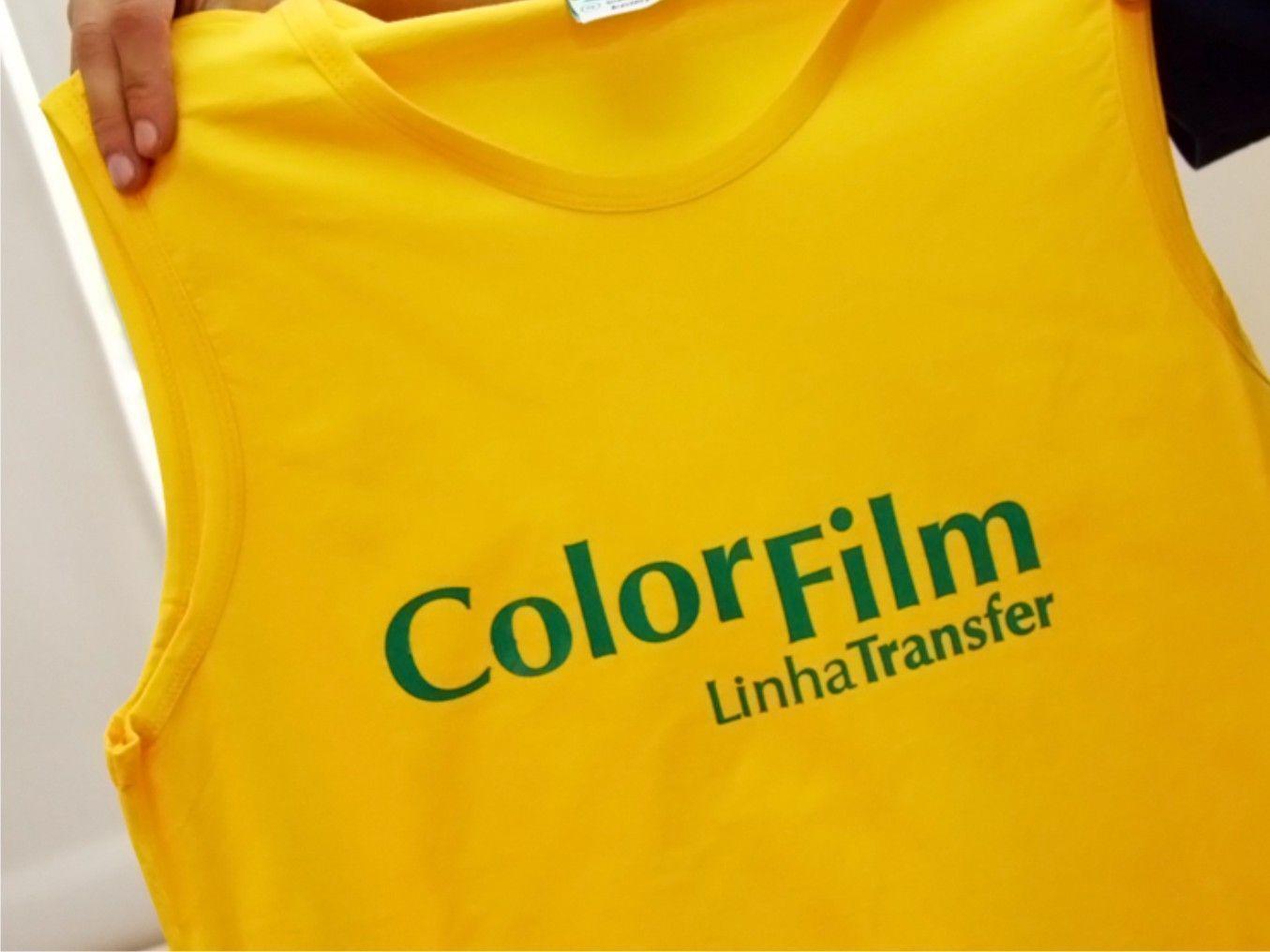 2ae67003d Transfer em camiseta  como aplicá-lo com filme PVC (plotter de ...