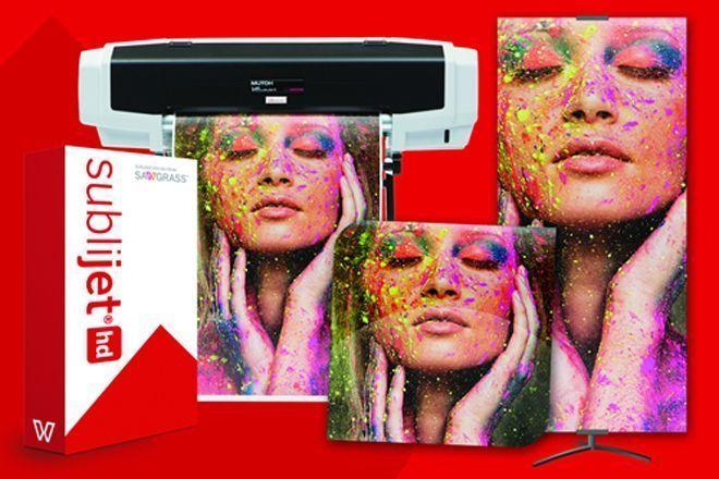 Sistema VJ 628 é composto por impressora de 0,6m de largura e tintas sublimáticas com fórmula patenteada pela Sawgrass