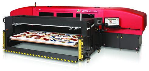 Fabricante norte-americana apresentou amplo portfólio de produtos e impressoras digitais, como a EFI Vutek HS125 Pro