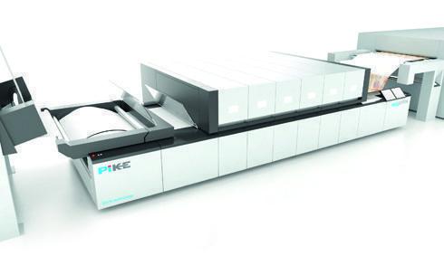 Pike trabalha na velocidade de impressão de 90m/min