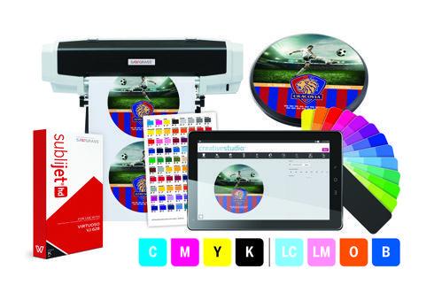 """Tintas SubliJet-HD Expanded Gamut são indicadas para o sistema Virtuoso 25"""" 8-Color HD"""