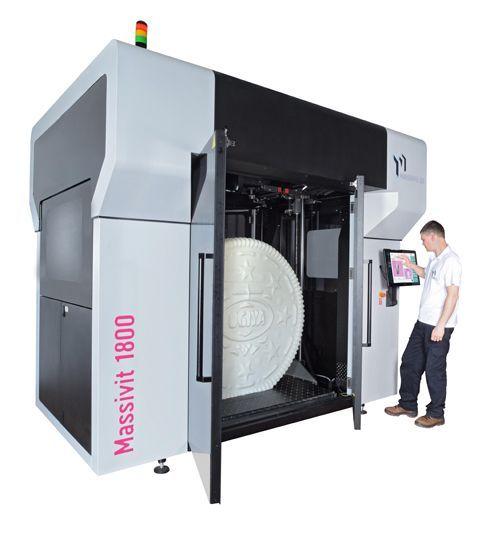 Massivit 3D 1800 pode trabalhar na velocidade de até 35cm/h