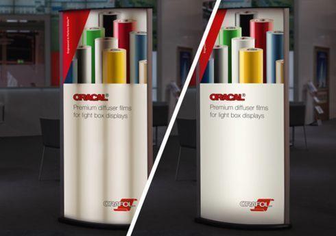 Oracal 8830 e 8860 Diffuser Premium Cast são indicados para peças de sinalização interna