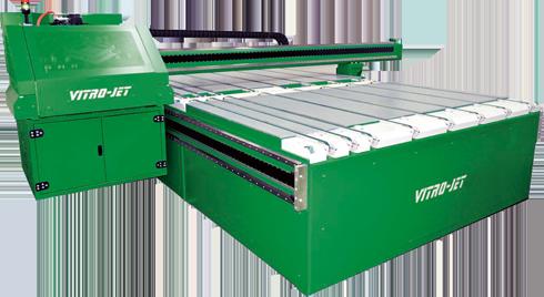 Vitro-Jet F Type /SP é máquina de decoração de vidros que emprega cabeças de impressão Xaar 2001