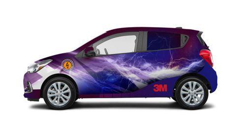 Scotchlite Print Wrap Film 780mC-10R confere efeitos de alta dispersão de luz à superfície dos veículos