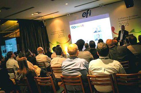 Guy Gecht apresentou novidades da EFI e discorreu sobre a interação entre internet e impressão