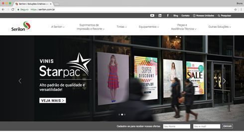 Site tem design moderno e blog oferece espaço para cases de clientes