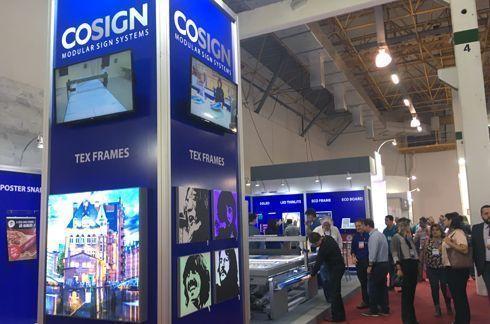 Cosign apresentou seu portfólio na feira Serigrafia Sign 2017