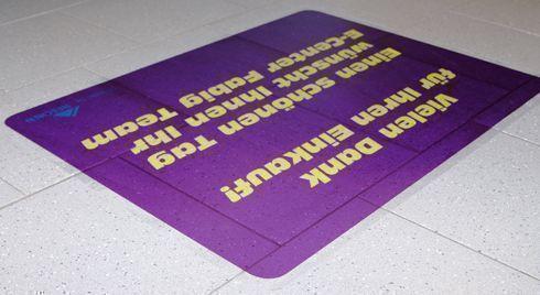UV dot print 'n' walk transparent não precisa ser laminado