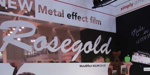 Rosegold é filme adesivo de poliéster indicado para decoração
