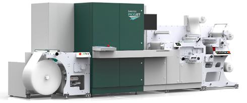 Impressora inkjet para embalagens trabalha na velocidade de 75m/min