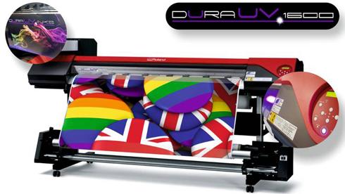 Durauv 1600 usa como base a impressora Roland VersaART RF-640