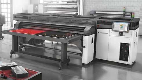 HP Latex R2000 imprime com tinta branca