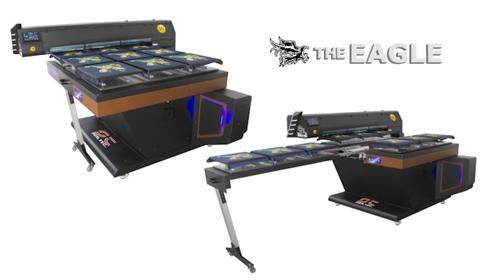 Máquina pode conter várias mesas de impressão