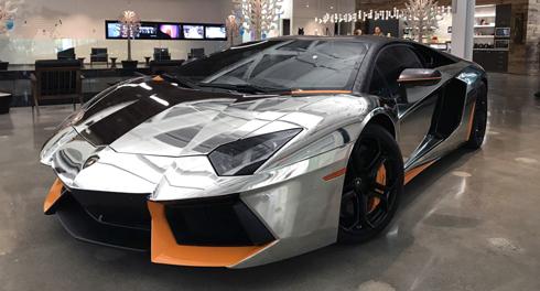 Lamborghini foi envelopada para demonstrar os efeitos da nova mídia