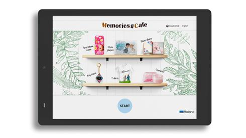 Aplicativo possibilita a criação de peças têxteis personalizadas na própria loja