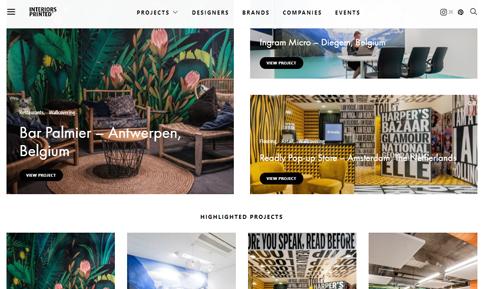 Página apresenta projetos de adesivação em decoração de interiores