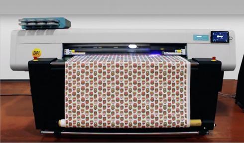 UP FJ H estampa materiais rígidos e bobinas de até 1,6m de largura