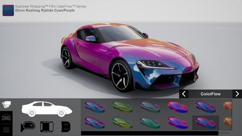 Car Wrap Visualizer foi desenvolvido pela Avery Dennison