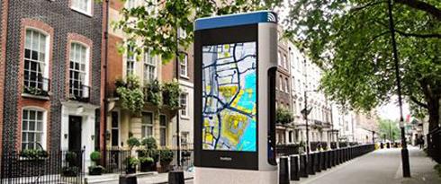 Smart Street Digital Info Hubs foram instalados em Londres