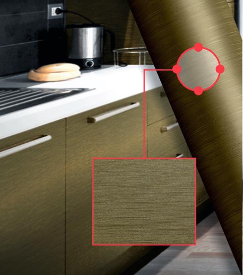 Gold Escovado apresenta superfície com texturas especiais