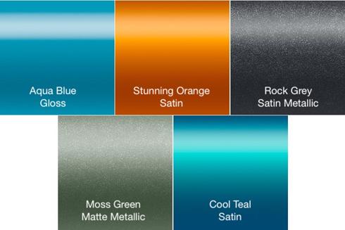 Cinco opções de cores fazem parte da Coastal Collection