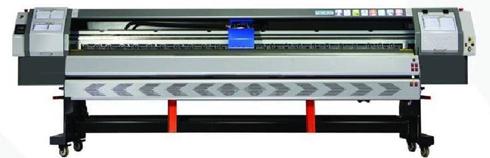 Impressora pode vir com 4 ou 8 cabeças Konica-i