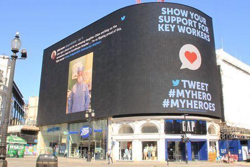 #MyHeroes é veiculada na Piccadilly Circus, em Londres
