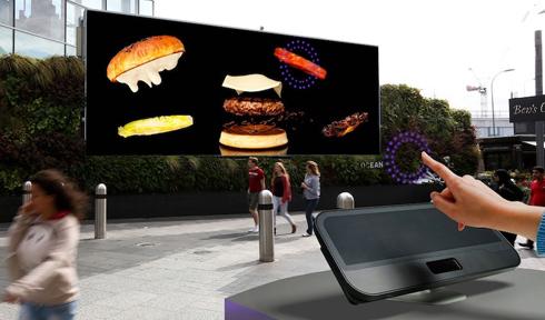 Display funciona com interações sem toque