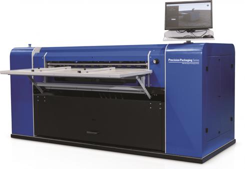 PKG-675i pode estampar pequenas tiragens de papelão ondulado personalizado