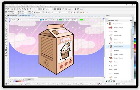 Software de design gráfico profissional recebeu melhorias