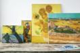 Como são reproduzidas cópias oficiais das obras de Van Gogh