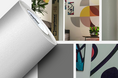 Novo vinil branco texturizado para impressão digital